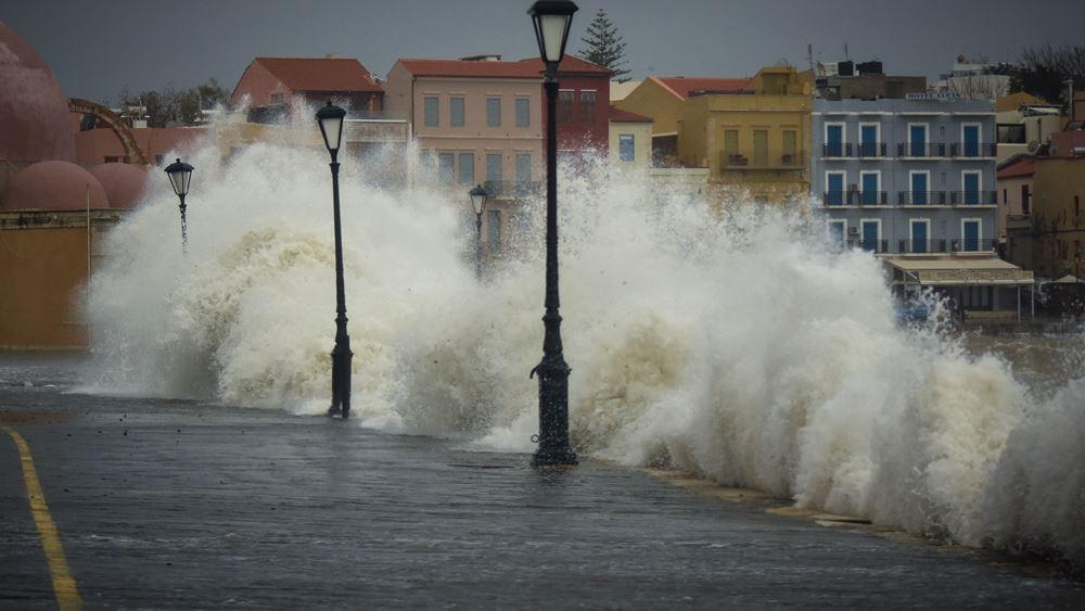 Προειδοποίηση για ακραία καιρικά φαινόμενα στην Κρήτη