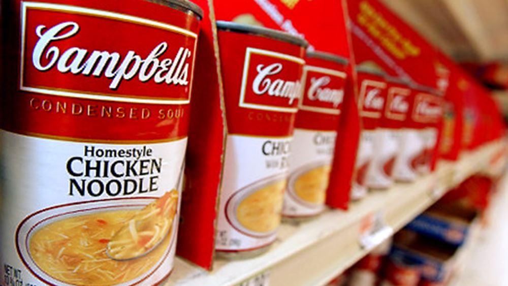 Κέρδη και πωλήσεις καλύτερα των εκτιμήσεων στο γ΄ τρίμηνο για την Campbell Soup