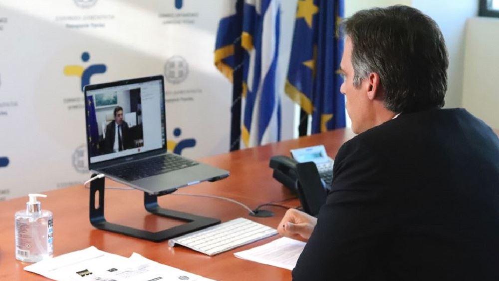 Τηλεδιάσκεψη του αντιπροέδρου της Κομισιόν Μ. Σχοινά με τον πρόεδρο του ΕΟΔΥ