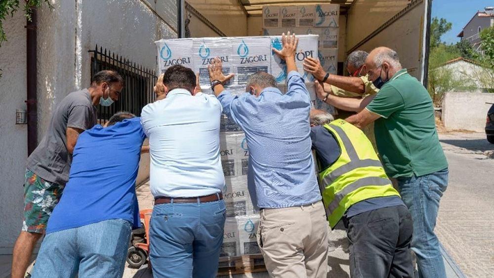 Προμήθειες από το ΕΕΑ στο Δήμο Μάνδρας για τους πυρόπληκτους
