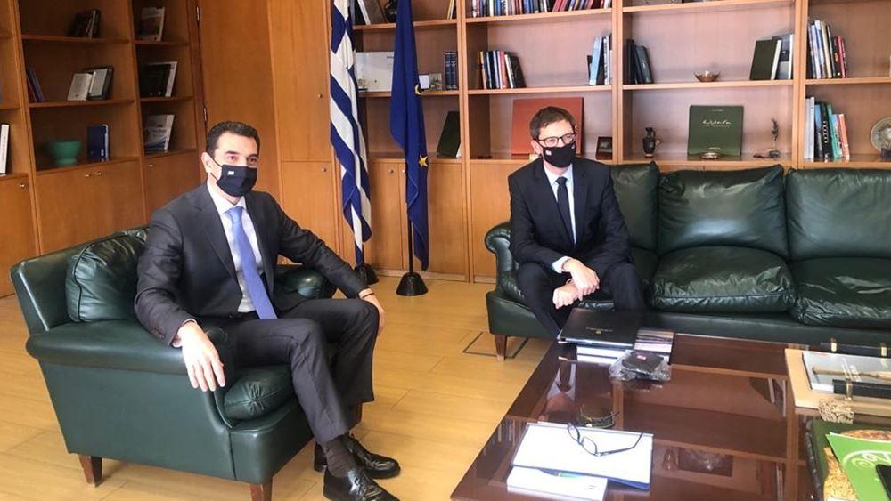 Συνάντηση ΥΠΕΝ Κ. Σκρέκα με τον Πρέσβη της Νορβηγίας στην Ελλάδα