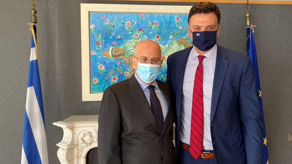 Συνάντηση του Βασίλη Κικίλια με τον πρέσβη Ισραήλ