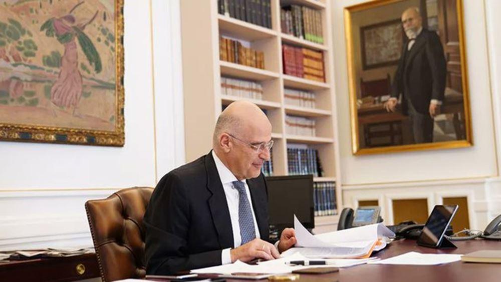 Τηλεφωνική επικοινωνία με τον ΥΠΕΞ των Ην. Αραβικών Εμιράτων είχε ο Ν. Δένδιας
