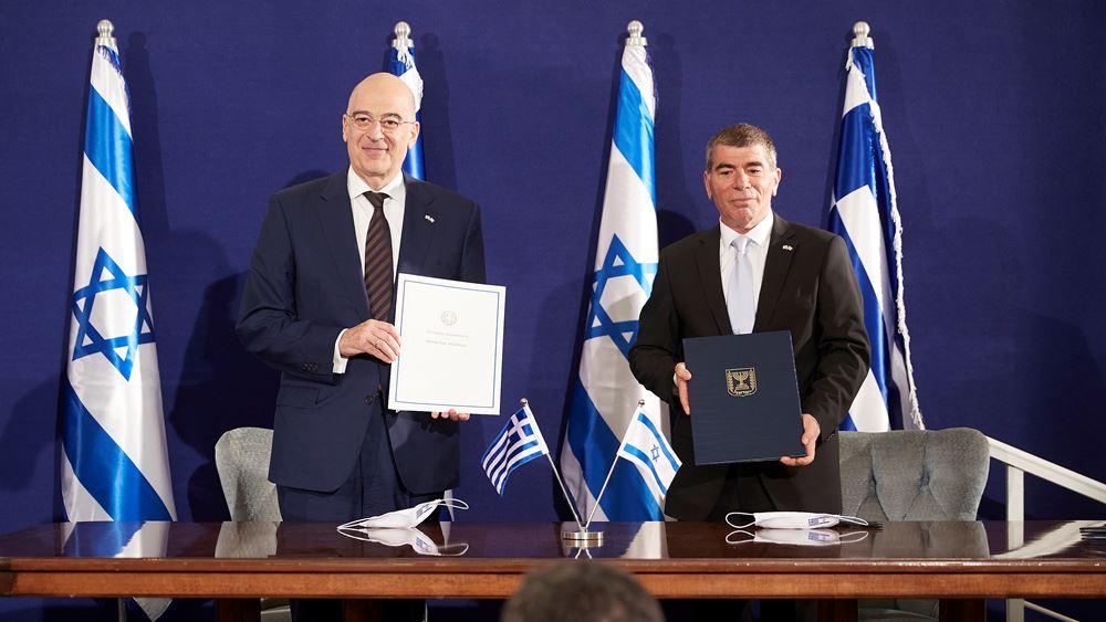 Χατζηδάκης και Steinitz υπέγραψαν κοινή διακήρυξη για στενότερη ενεργειακή συνεργασία Ελλάδας-Ισραήλ