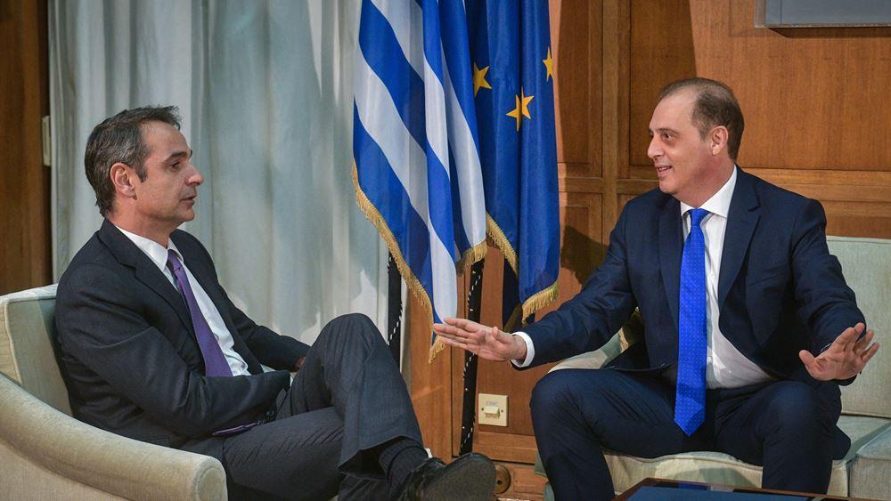 Βελόπουλος μετά τη συνάντηση με Μητσοτάκη: Μείζονα είναι μόνο τα εθνικά θέματα