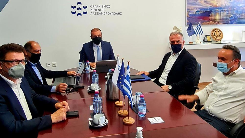 Καλαφάτης: Το λιμάνι της Αλεξανδρούπολης έχει τις προοπτικές να καταστεί ένας από τους μεγαλύτερους εμπορευματικούς σταθμούς