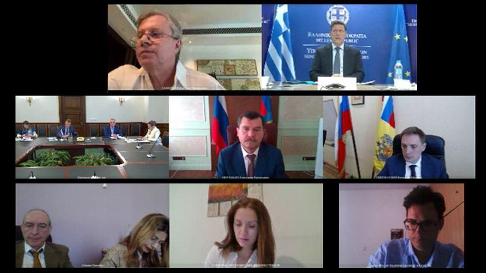 Τηλεδιάσκεψη Βαρβιτσιώτη με Ρώσο υπουργό Μεταφορών για αμοιβαία αναγνώριση των πιστοποιητικών εμβολιασμού