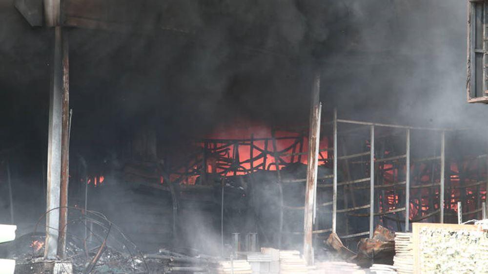 Μυτιλήνη: Νεκρή πρόσφυγας από φωτιά σε κοντέινερ στον καταυλισμό του Καρά Τεπέ
