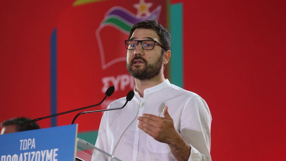 N. Ηλιόπουλος: Η κυβέρνηση άφησε τη χώρα απροετοίμαστη απέναντι στο δεύτερο κύμα της πανδημίας