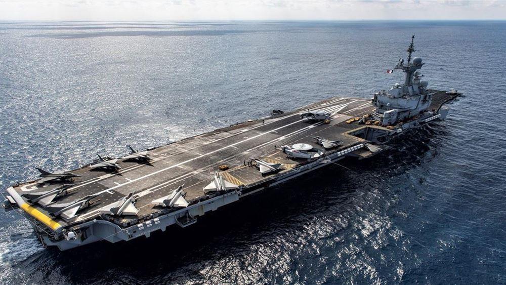 """Κύπρος: Στο λιμάνι της Λεμεσού το γαλλικό αεροπλανοφόρο """"Charles de Gaulle"""""""