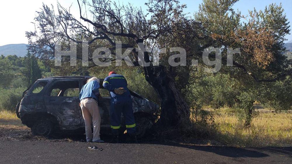 Κόρινθος: Βρέθηκε καμένο ΙΧ με απανθρακωμένο τον οδηγό
