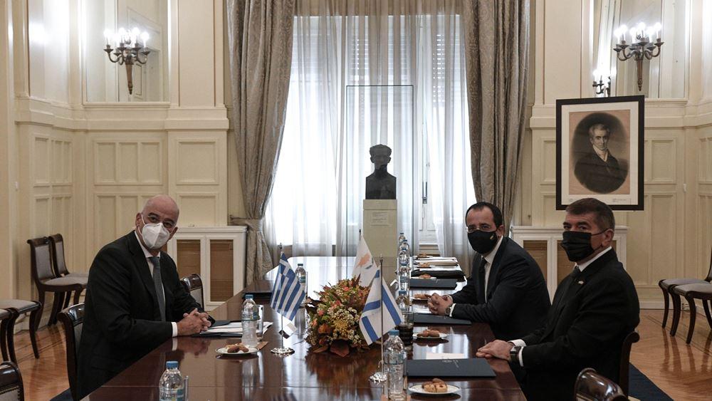 Ν. Δένδιας: Οι στενές σχέσεις Ελλάδας, Κύπρου, Ισραήλ εγγύηση ασφάλειας στην ευρύτερη περιοχή