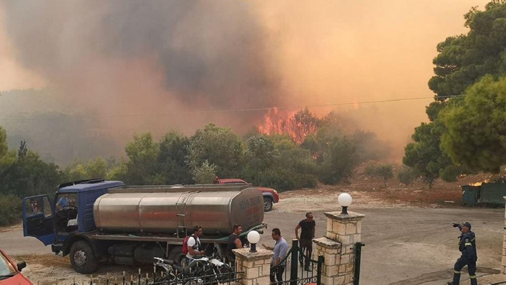 Κεφαλονιά: Πυρκαγιά στην περιοχή Πλατιές