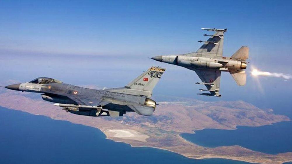 Τουρκικά αεροσκάφη πέταξαν πάνω από Οινούσες, Παναγιά και Χίο