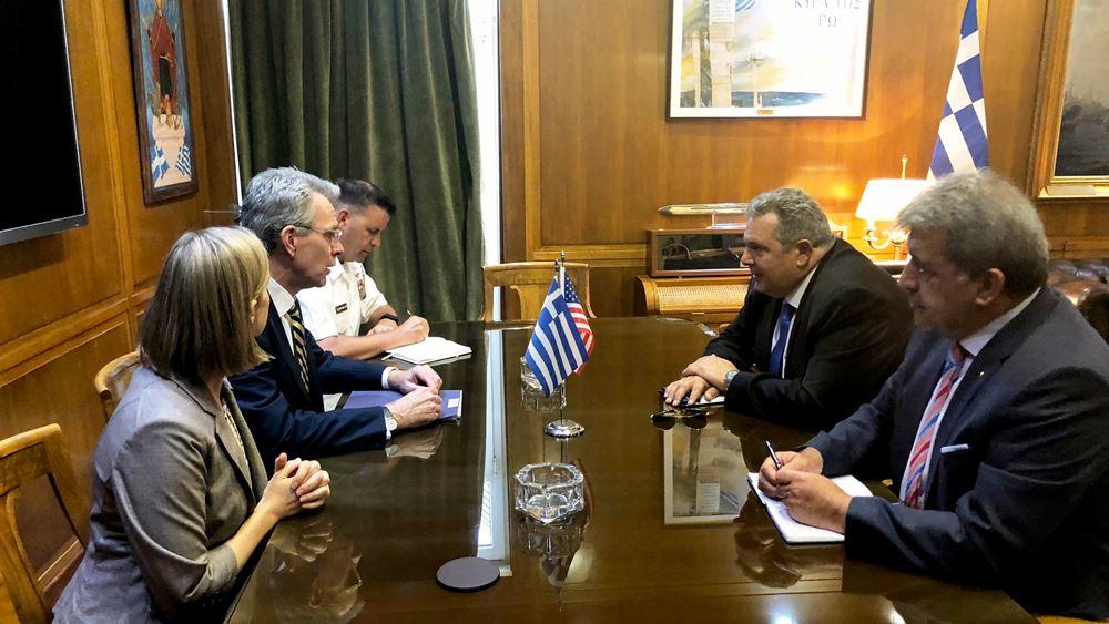 Συνάντηση Π. Καμμένου με τον Αμερικανό πρέσβη