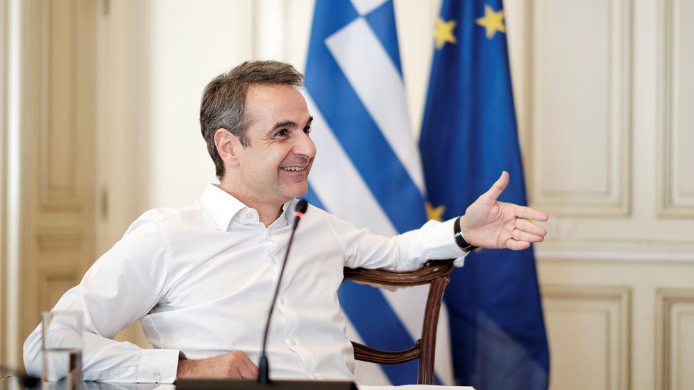 Τηλεδιάσκεψη Μητσοτάκη με τον πρόεδρο του Δημοκρατικού Κόμματος της Αλβανίας
