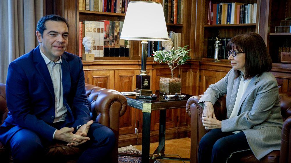 ΠτΔ στη συνάντηση με τον Αλ. Τσίπρα: Η προκοπή και η ευημερία των Ελλήνων αποτελούν κοινό στόχο