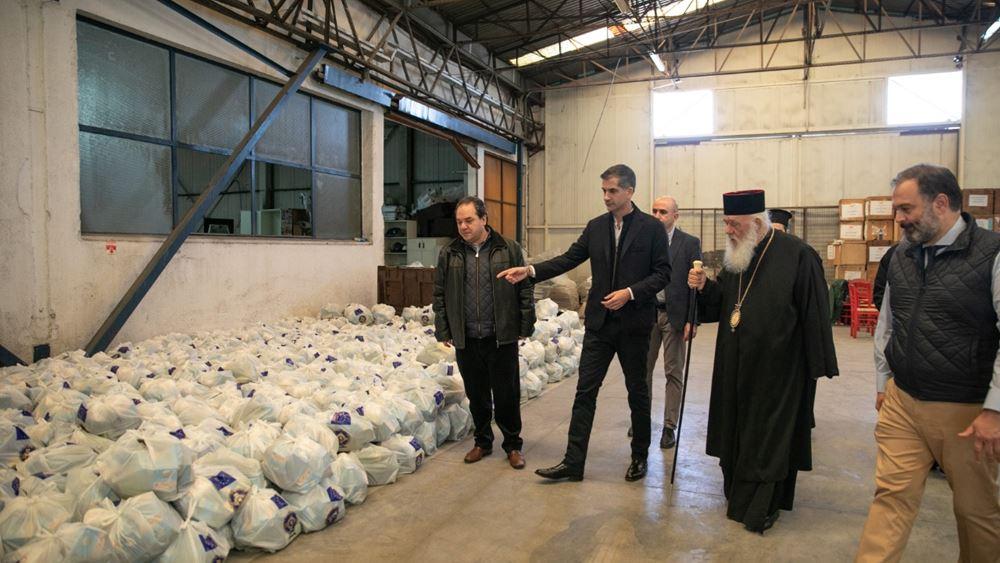Πάνω από 20.000 πακέτα τροφίμων από τον Δήμο Αθηναίων σε συνεργασία με την Αρχιεπισκοπή Αθηνών