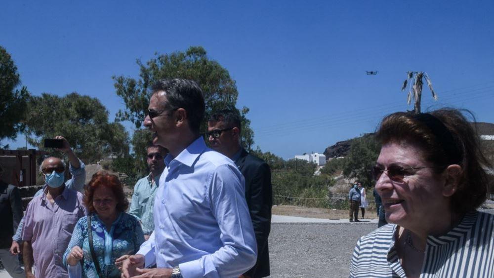 Κ. Μητσοτάκης από Σαντορίνη: Υποδεχόμαστε τους επισκέπτες μας χωρίς καμία έκπτωση στην ασφάλεια
