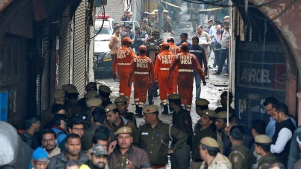 Ινδία: Τουλάχιστον 43 νεκροί από πυρκαγιά σε εργοστάσιο στο Νέο Δελχί