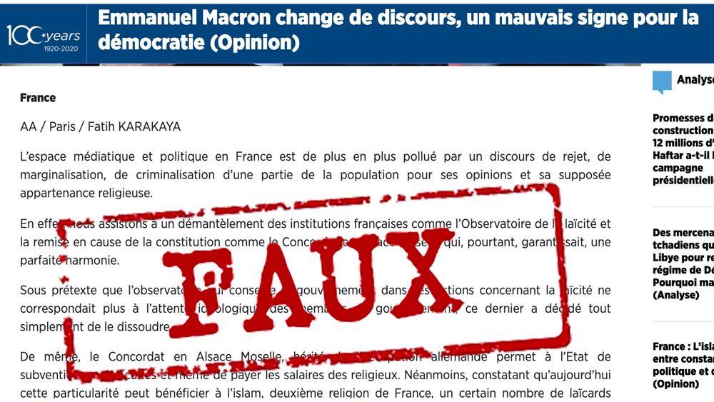 Επίθεση Γαλλίας κατά του πρακτορείου Anadolu για προπαγάνδα - Απαντά η Άγκυρα