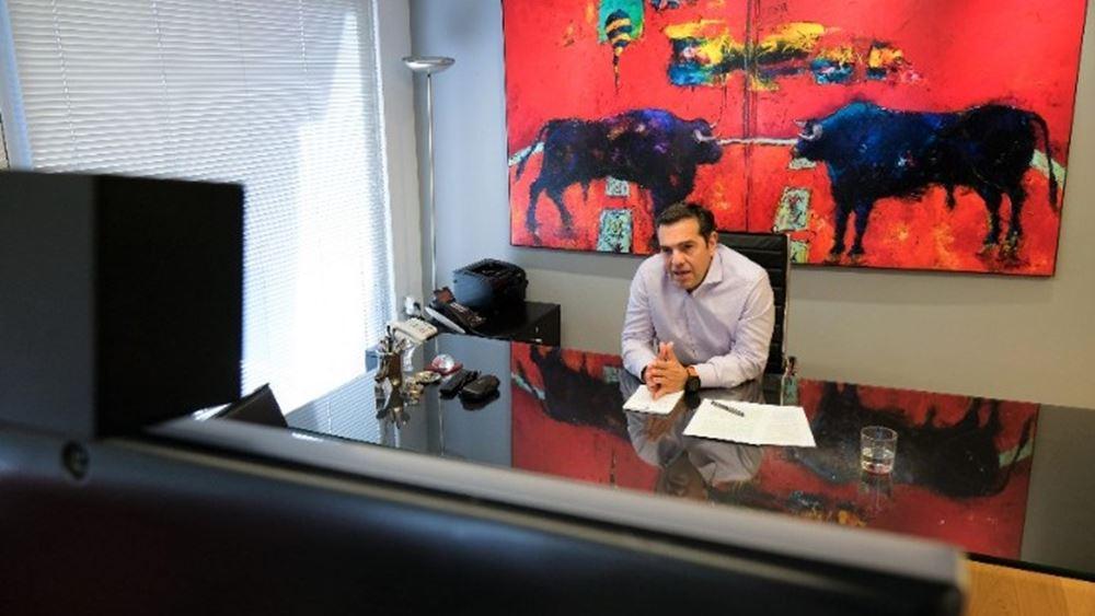 Συντονισμό των ευρώ-προοδευτικών δυνάμεων ζήτησε ο Τσίπρας
