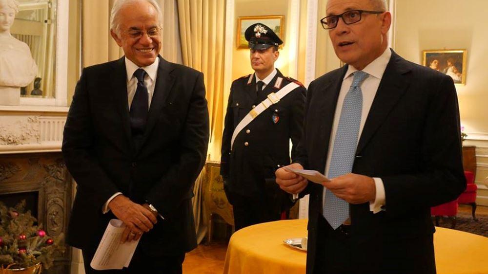 Παρασημοφόρηση του Δ. Κοπελούζου από τον πρόεδρο της Ιταλίας