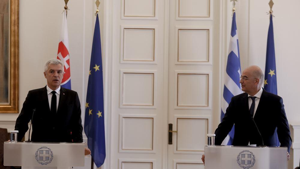 ΥΠΕΞ Ελλάδας-Σλοβακίας για Κυπριακό: Λύση μόνο με βάση τα ψηφίσματα του ΟΗΕ και το Διεθνές Δίκαιο