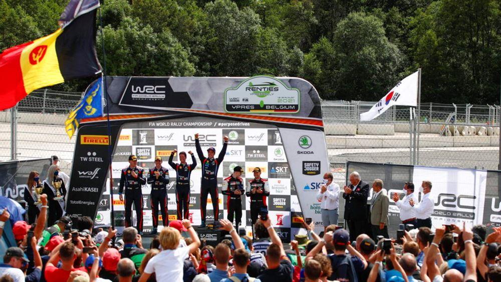 Εντυπωσιακή νίκη για την Hyundai στο Ypres Rally Belgium