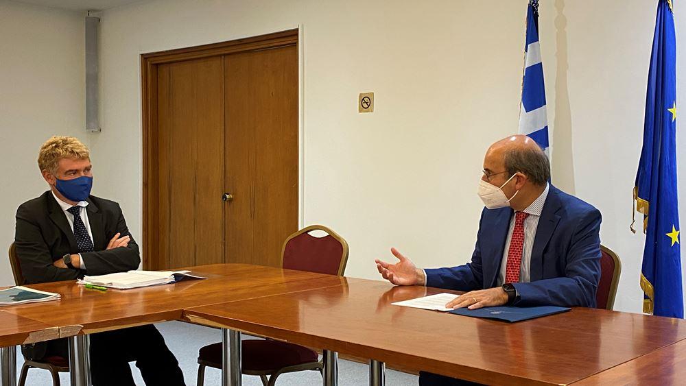 Συνάντηση Κ. Χατζηδάκη με τον Γενικό Διευθυντή Στήριξης Διαρθρωτικών Μεταρρυθμίσεων
