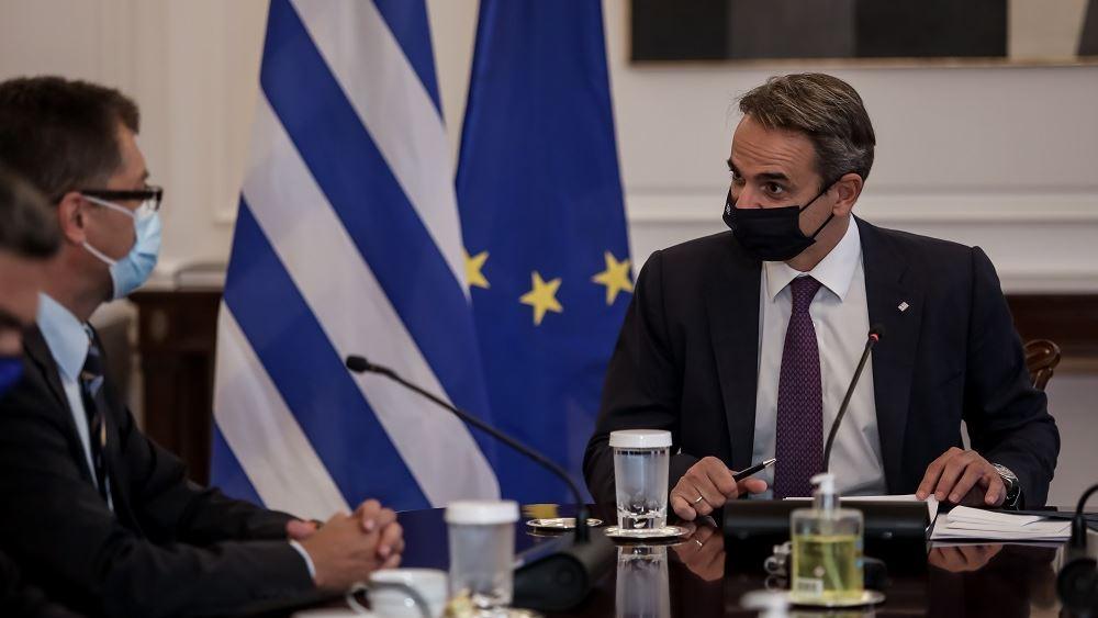 Συνάντηση Μητσοτάκη - Λέναρτσιτς: Όραμά μας είναι να ανασυγκροτήσουμε τη Βόρεια Εύβοια
