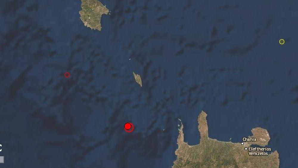 Σεισμός 6,1 Ρίχτερ σε θαλάσσια περιοχή μεταξύ Κρήτης- Κυθήρων