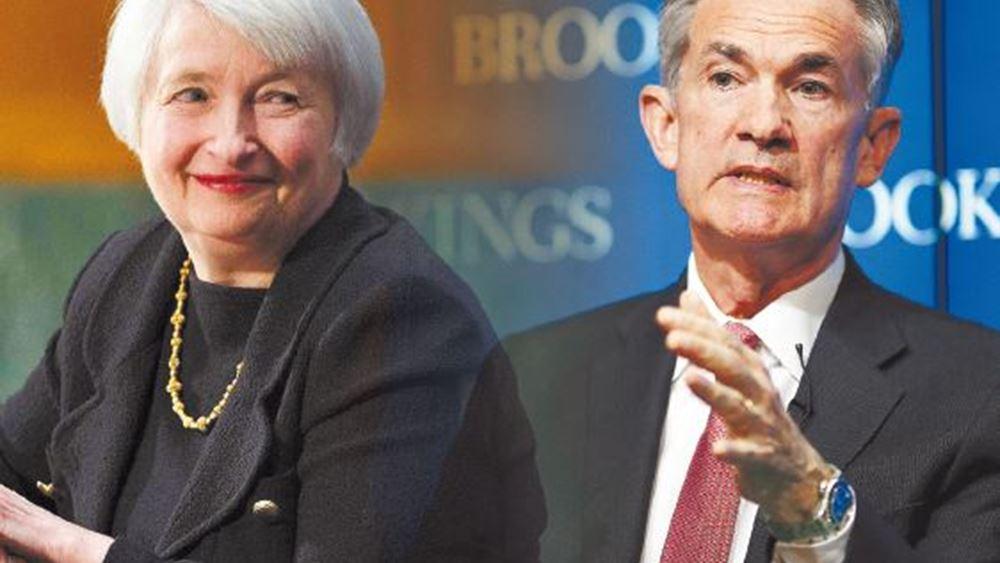 Bloomberg: Η υπ. Οικονομικών των ΗΠΑ στηρίζει Πάουελ για δεύτερη θητεία στη Fed