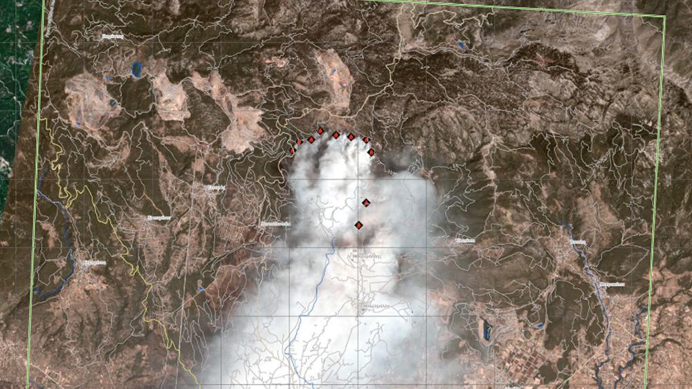 Ενεργοποιήθηκε το πρόγραμμα Copernicus για τη χαρτογράφηση των καταστροφών στην Εύβοια