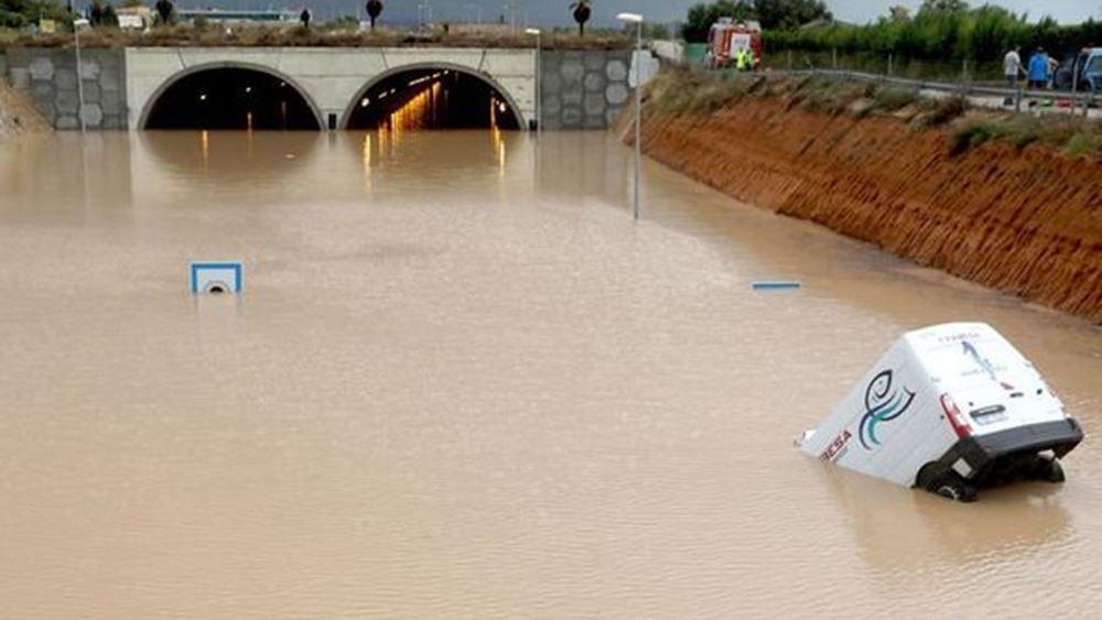 Ισπανία: Ένας νεκρός και δύο αγνοούμενοι από τις σφοδρές βροχοπτώσεις στην Καταλονία