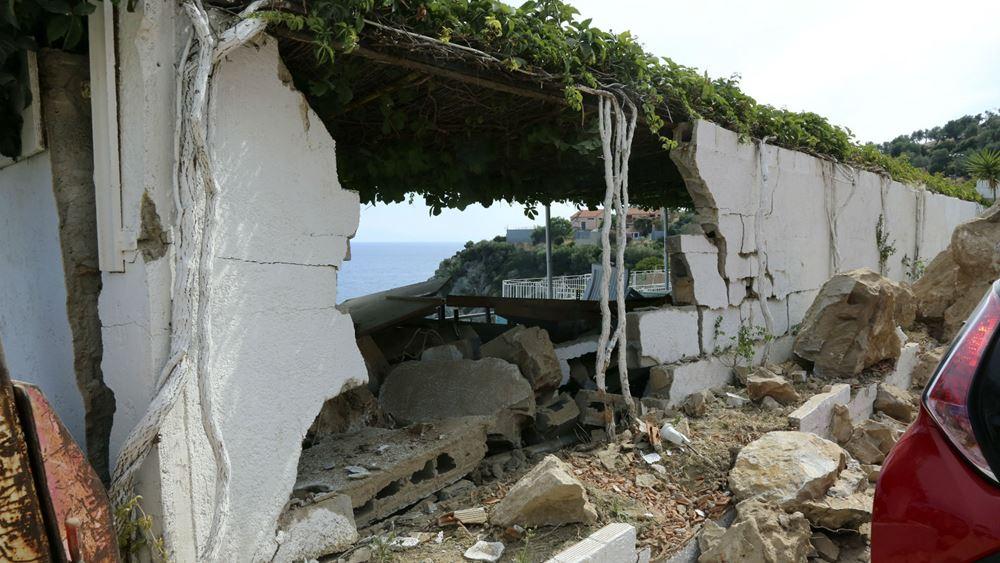 Λέσβος: Διαμαρτυρία των σεισμόπληκτων της Βρίσας
