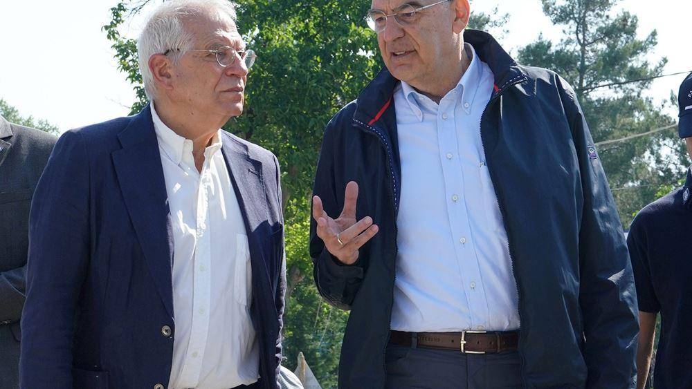 Δένδιας - Μπορέλ από Έβρο: Τα συμφέροντα της Ελλάδας είναι και ευρωπαϊκά