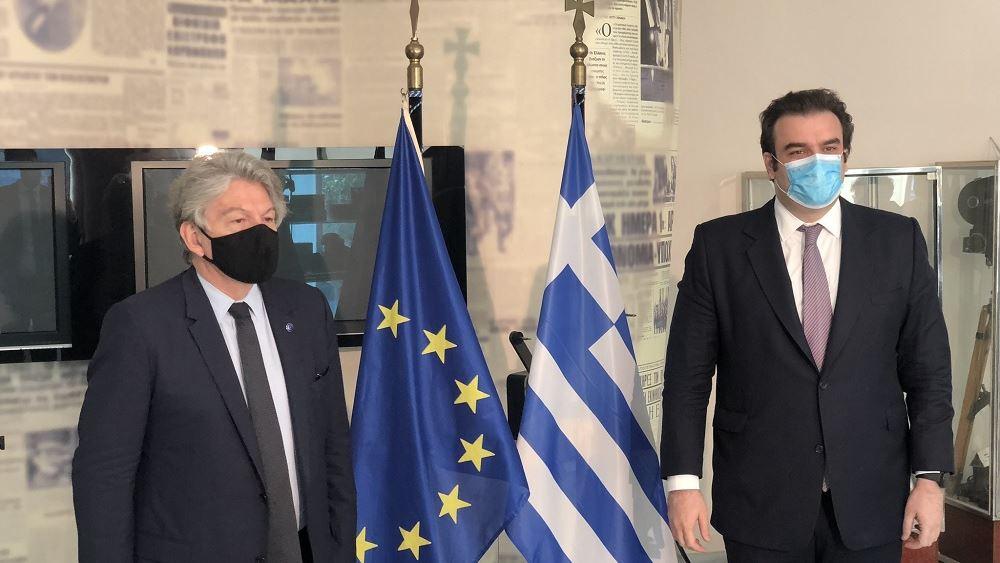 Ασφαλής συνδεσιμότητα και ψηφιακές μεταρρυθμίσεις στο επίκεντρο της επίσκεψης του Επιτρόπου Breton στην Ελλάδα