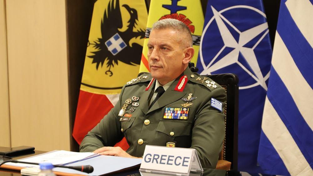 Σε φυλάκια και μονάδες των Ενόπλων Δυνάμεων στη Λέσβο ο αρχηγός ΓΕΕΘΑ Κων.Φλώρος