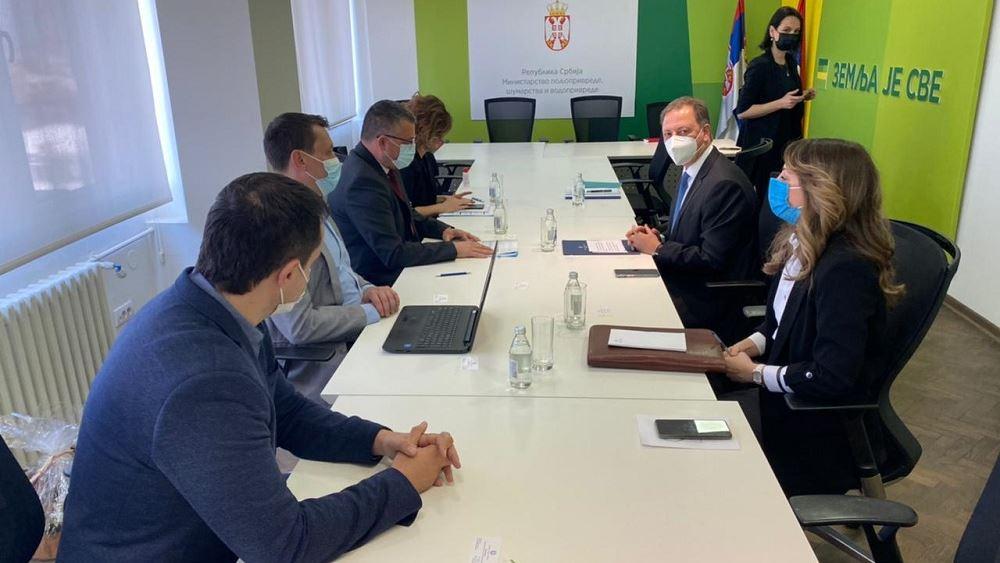 Την προώθηση ελληνικών αγροτικών προϊόντων και επενδύσεων στη Σερβία συζήτησαν Λιβανός - Nedimović