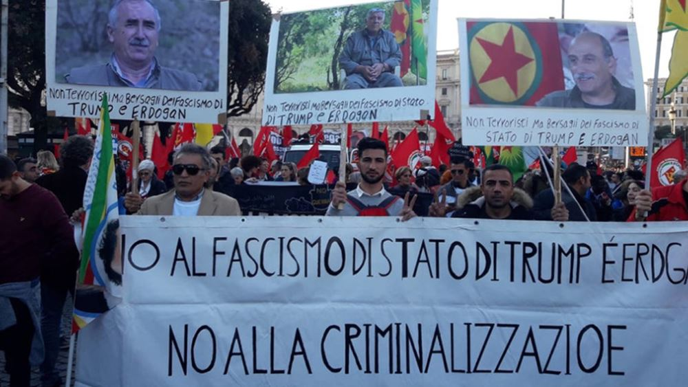 Ιταλία: Χιλιάδες διαδηλωτές στους δρόμους υπέρ των Κούρδων της Συρίας