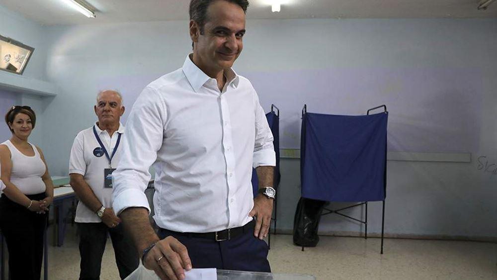 """Ψήφισε ο Κ. Μητσοτάκης - """"Οι Έλληνες παίρνουν τις τύχες του τόπου στα χέρια τους"""""""