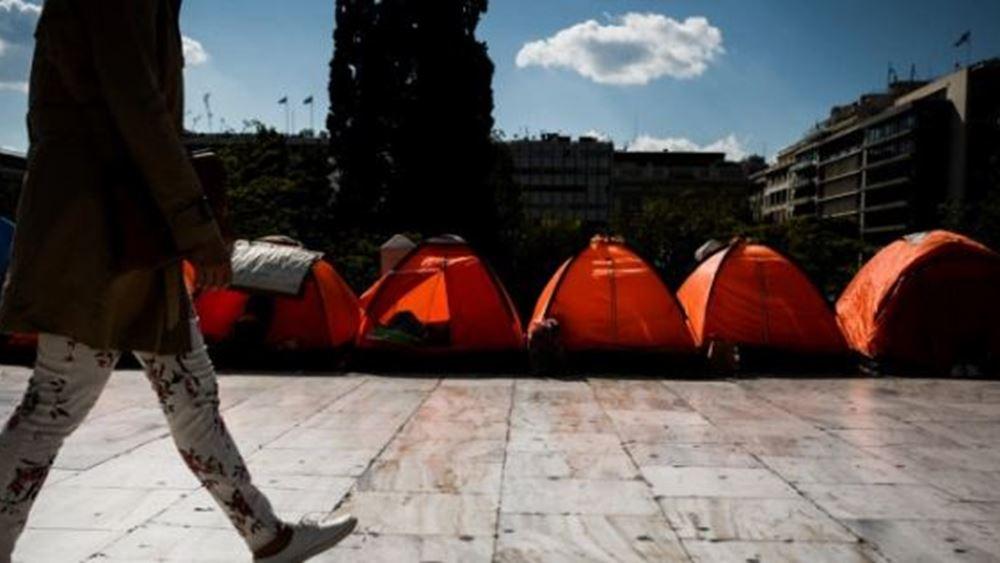 Αποχώρησαν από την πλατεία Συντάγματος οι μετανάστες
