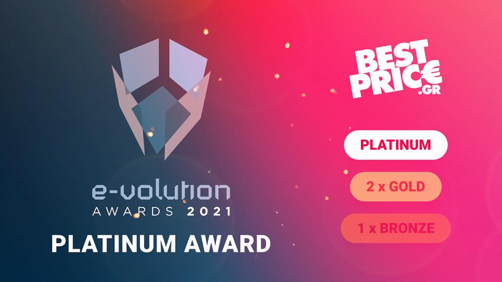 Platinum διάκριση για το BestPrice.gr στα E-volution Awards 2021
