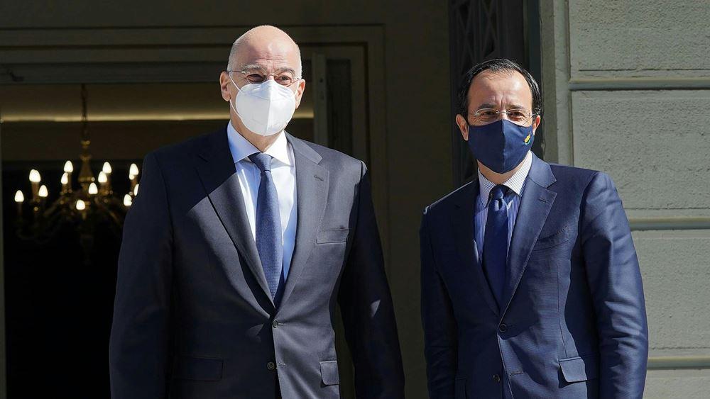 Η διάσκεψη για το Κυπριακό στο επίκεντρο της συνάντησης Ν. Δένδια- Ν. Χριστοδουλίδη