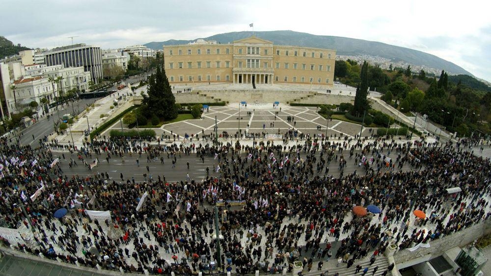 Θεσσαλονίκη : Συγκέντρωση του ΠΑΜΕ έξω από το ΥΜΑΘ για το απεργιακό δικαίωμα