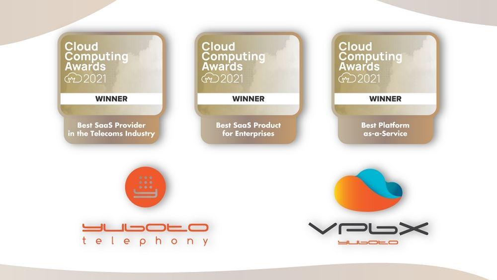 Yuboto Telephony Βραβεία Cloud Computing Awards 2021
