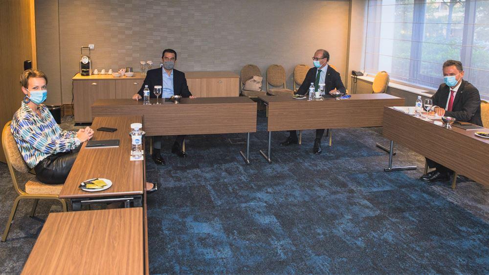 Συνάντηση του Υπ. Περιβάλλοντος και Ενέργειας, Κ. Σκρέκα, με τον Γενικό Διευθυντή του Ελληνογερμανικού Επιμελητήριου, Δρα Αθ. Κελέμη