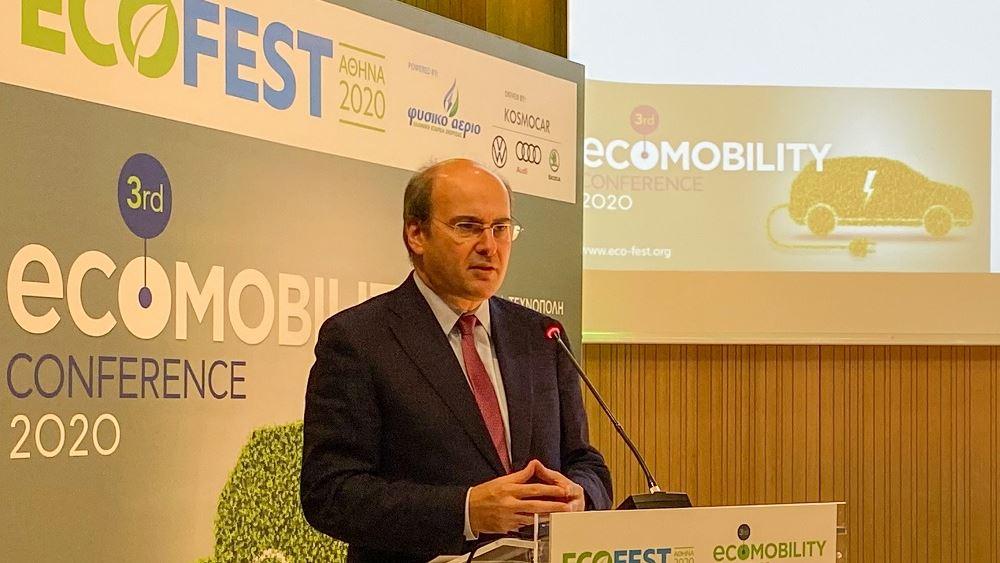 """Κ. Χατζηδάκης: Αεριοκίνηση, βιοκαύσιμα και ηλεκτροκίνηση """"κλειδί"""" στην πράσινη ατζέντα της κυβέρνησης"""