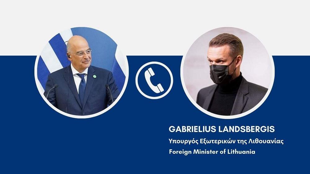 Τηλεφωνική επικοινωνία Δένδια με τον ΥΠΕΞ της Λιθουανίας